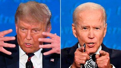 Donald Trump y Joe Biden completaron el primero de tres debates que realizarán antes de las elecciones del 3 de noviembre en EEUU.