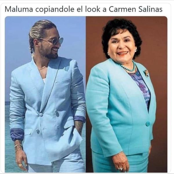 Maluma Y El Traje Azul Con El Que Desató Burlas Y Memes