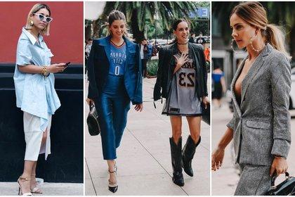 (Foto: Michelle Aubert, Instagram @michelleaubertm (izquierda)/ Lorena G., Instagram @used.issue (centro y derecha))
