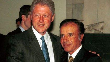 Bill Clinton y Carlos Menem
