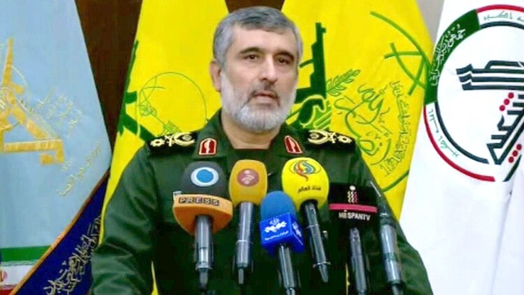 Amir Ali Hajizadeh, comandante de la Fuerza Aeroespacial en la Guardia Revolucionaria