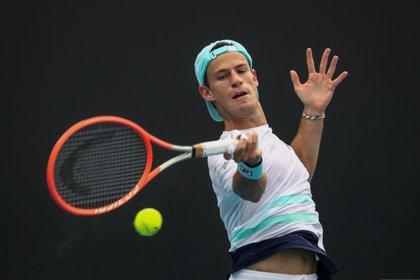 Diego Schwartzman es el único argentino que consiguió un triunfo en la categoría masculina de singles del Abierto de Australia (EFE/EPA/JASON O'BRIEN)