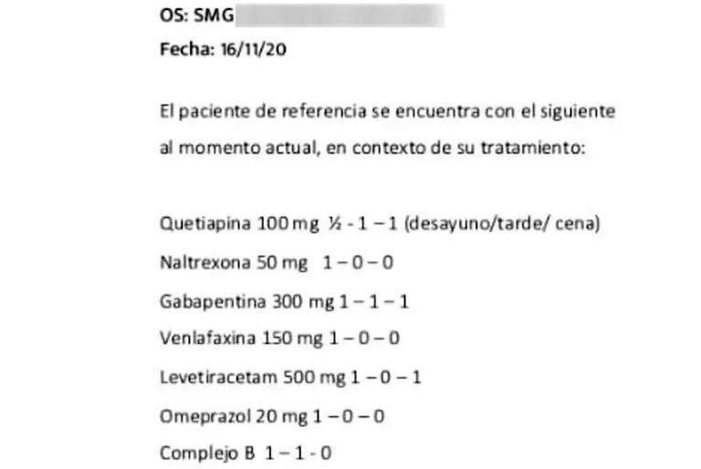 medicamentos maradona
