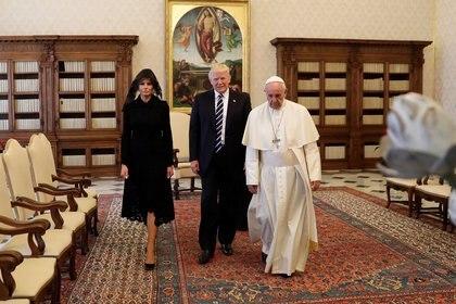 24 de mayo de 2017: el líder católico recibió en el Vaticano al presidente de Estados Unidos, en una visita de media hora.
