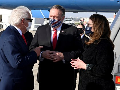 The Secretary of State of the United States, Mike Pompeo (c), lands in Tel Aviv, on an official visit.  EFE / Stern Matty / US Embassy in Jerusalem