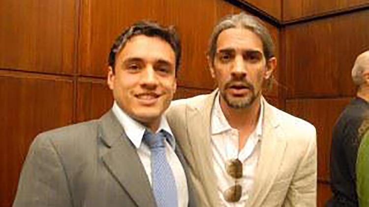Bounine junto al actor Pablo Echarri.