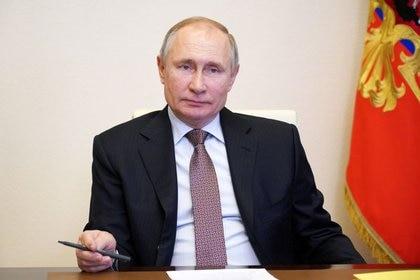 El presidente ruso, Vladímir Putin en la residencia estatal de Novo-Ogaryovo, a las afueras de Moscú, Rusia 31 de marzo de 2021. REUTERS/Sputnik/Alexei Druzhinin/Kremlin