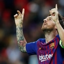 Soccer Football - Champions League - Group Stage - Group B - Tottenham Hotspur v FC Barcelona - Wembley Stadium, London, Britain - October 3, 2018 Barcelona's Lionel Messi celebrates scoring their fourth goal REUTERS/Eddie Keogh