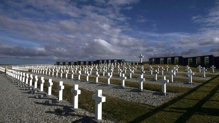 El cementerio de Darwin en las Islas Malvinas (NA)