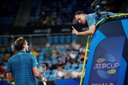 Tuvo un conflicto con Daniil Medvedev durante la ATP Cup (Foto: Reuters)