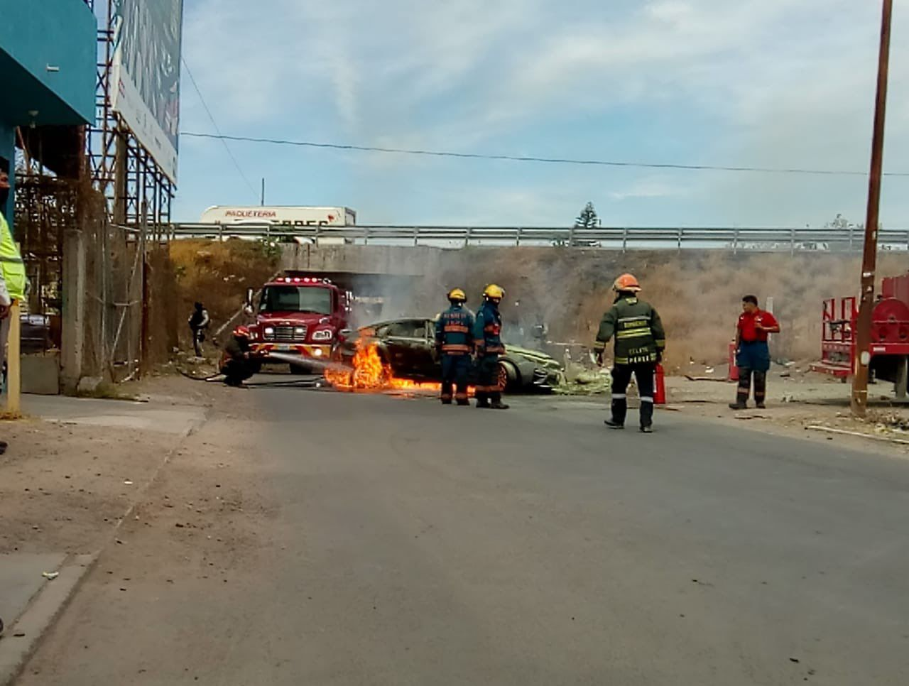 5 muertos del cartel Santa Rosa de Lima en Guanajuato (Foto: Twitter@edgarfabianvf)