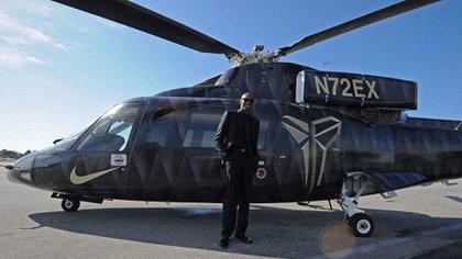 El helicóptero Sikorsky S-76B en el que solía volar Bryant