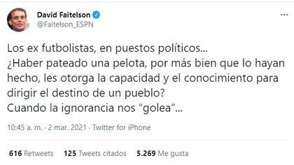 El analista deportivo compartió su opinión sobre ex deportistas involucrados en la política mexicana (Foto: captura de pantalla @Faitelson_ESPN)