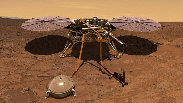 El aparato no tiene ruedas para desplazarse, pero será el primero en estudiar las profundidades del planeta rojo