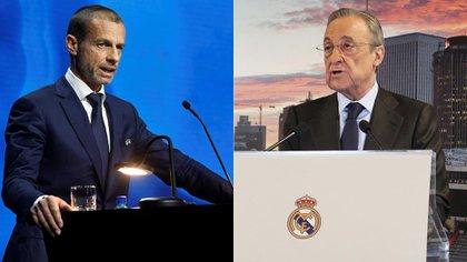 """Fuerte amenaza de la UEFA al Real Madrid por la Superliga europea: """"Hay una posibilidad de que no jueguen contra el Chelsea"""""""