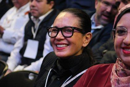 Yolanda Andrade siempre sonriente (Foto: Juan Vicente Manrique/Infobae)