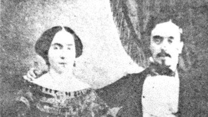 Guadalupe González del Pino y Villalpando con Francisco González Bocanegra (Foto: Especial)