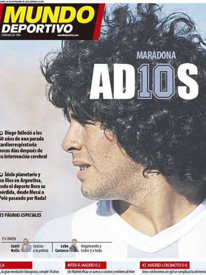 Mundo Deportivo, Cataluña, España.