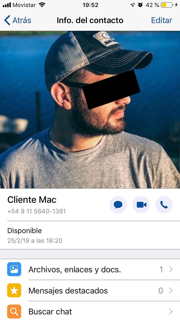 El número desde el cual llamaron a Sergio