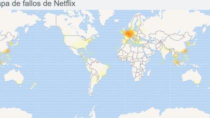 Éstos son los lugares del mundo donde se registran mayores reportes de falla, según DownDetector.