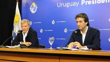El Secretario Nacional de Deporte de Uruguay, Dr. Sebastián Bauzá, y el Subsecretario Nacional del Deporte, Dr. Pablo Ferrari