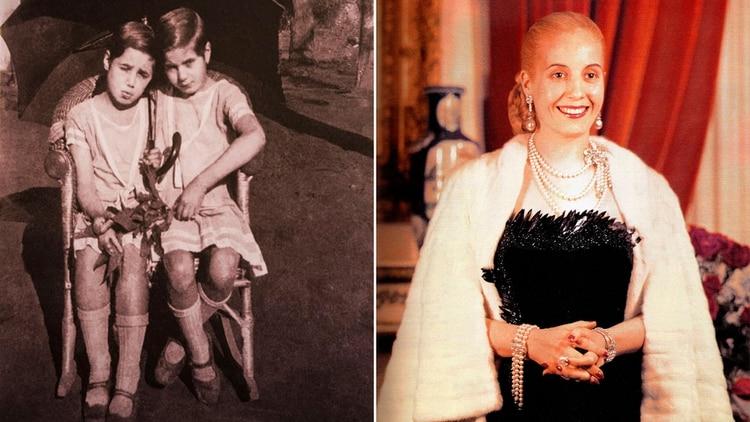 b03de16c4 La evolución del estilo de Evita  de coser su propia ropa a vestir ...