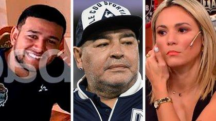 """Carlos Orlando Ibáñez, más conocido como """"Charly"""", Digo Maradona y Rocío Oliva"""