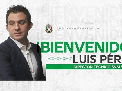 Selección mexicana nombró a Luis Pérez como director técnico de la Sub-17 (Foto: FMF)