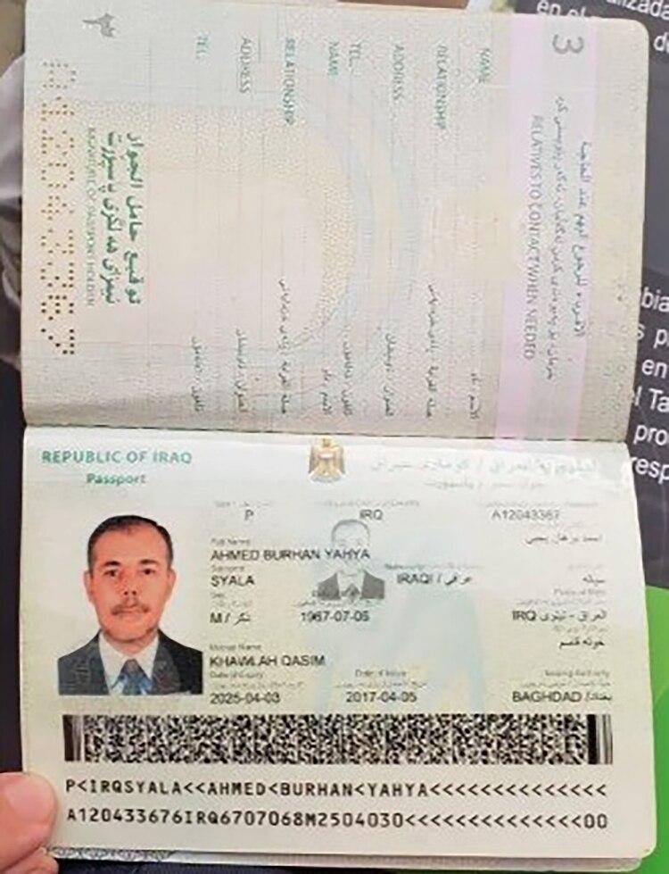 La cédula de extranjero que consiguió Ahmed Burhan Yahya Syala para poder establecerse en Colombia