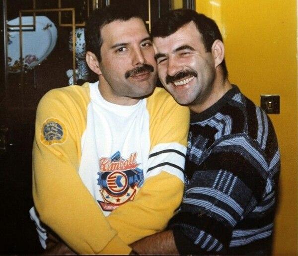 Freddie Mercury con Jim Hutton, su última pareja