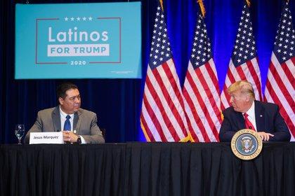 El mandatario se reunió con líderes latinos en Las Vegas (Reuters)