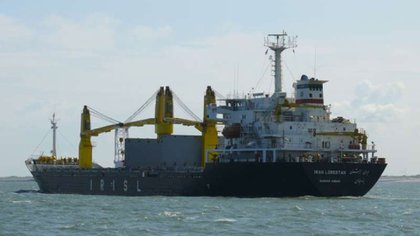 El barco iraní MV Saviz