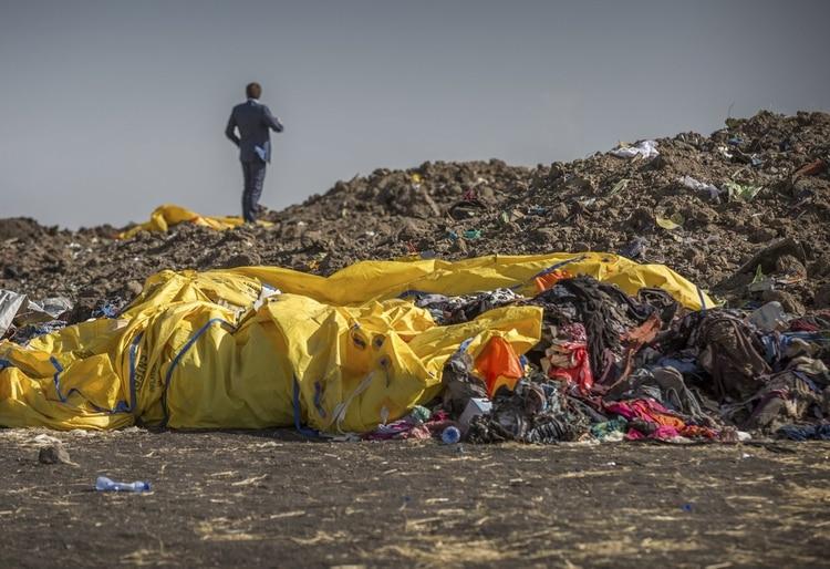 El Boeing 737 Max 8 de Ethiopian Airlines se estrelló poco después del despegue (Foto: AP)
