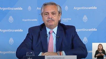 El presidente Alberto Fertnández