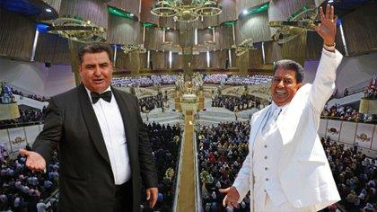 Imagen de Naason García y su padre Samuel Joaquín Flores (Foto: Especial/Archivo)