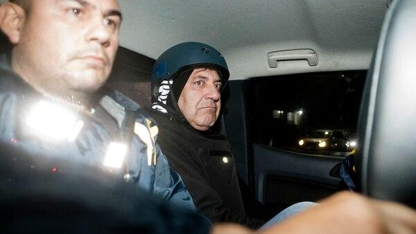"""Claudio """"Mono"""" Minnicceli, al momento de su detención (Adrián Escandar)"""