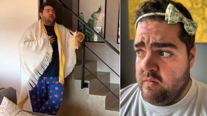 Darío Barassi no se mueve de su casa (Fotos y video: Instragram)