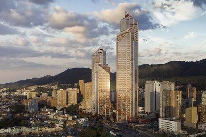 En el centro de Bogotá deslumbrará este desarrollo comercial con 42 pisos (201 metros) y 58 pisos (268 metros) de altura respectivamente, las torres brindan un total de más de 250,000 m² de espacio de oficinas, servicios públicos y comercio minorista, en donde se espera recibir hasta 72.000 personas por día (Rogers Stirk Harbor)