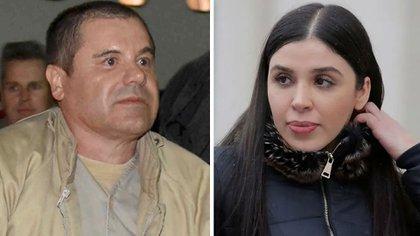 """Joaquín el """"Chapo"""" Guzmán y Emma Coronel (Fotos: Reuters)"""
