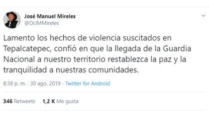 El ex líder de las autodefensas de Michoacán lamentó los hechos violentos (Foto: Twitter)