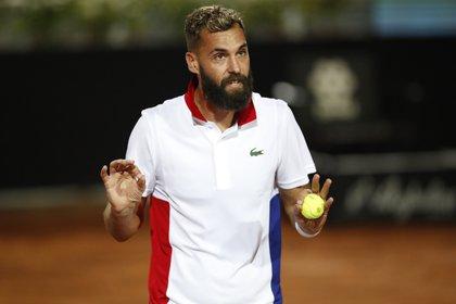 Benoit Paire suma tres eliminaciones en primera ronda y varios test positivos de coronavirus desde que regresó el tenis mundial (REUTERS)