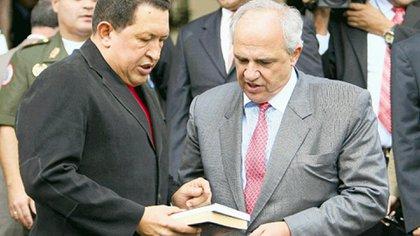 Hugo Chávez y Ernesto Samper