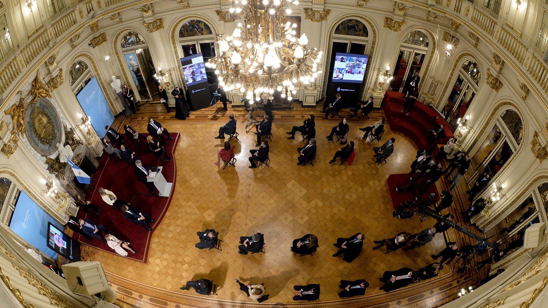 reforma judicial alberto fernandez casa rosada reunion 29-7