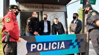 Los ministros de Seguridad porteño y bonaerense, Diego Santilli y Sergio Berni