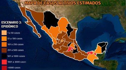 Mapa del coronavirus en México: aumentan casos activos en Tabasco, Chihuahua y Quintana Roo