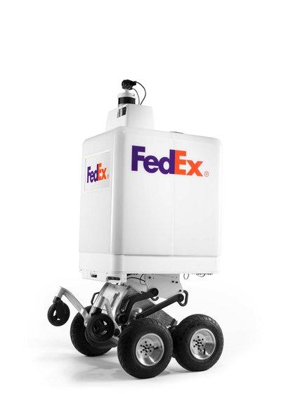 El robot de FedEx para hacer delivery (FedEx/Handout via REUTERS)