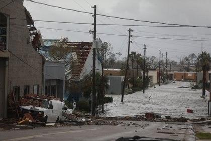 Devastación en Panama City, Florida. (Joe Raedle/Getty Images/AFP)