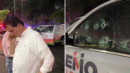 Balearon camioneta del equipo de Memo Valencia, candidato del PRI en Morelia