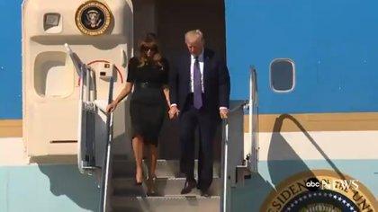 Trump visitó a los heridos en Las Vegas este miércoles