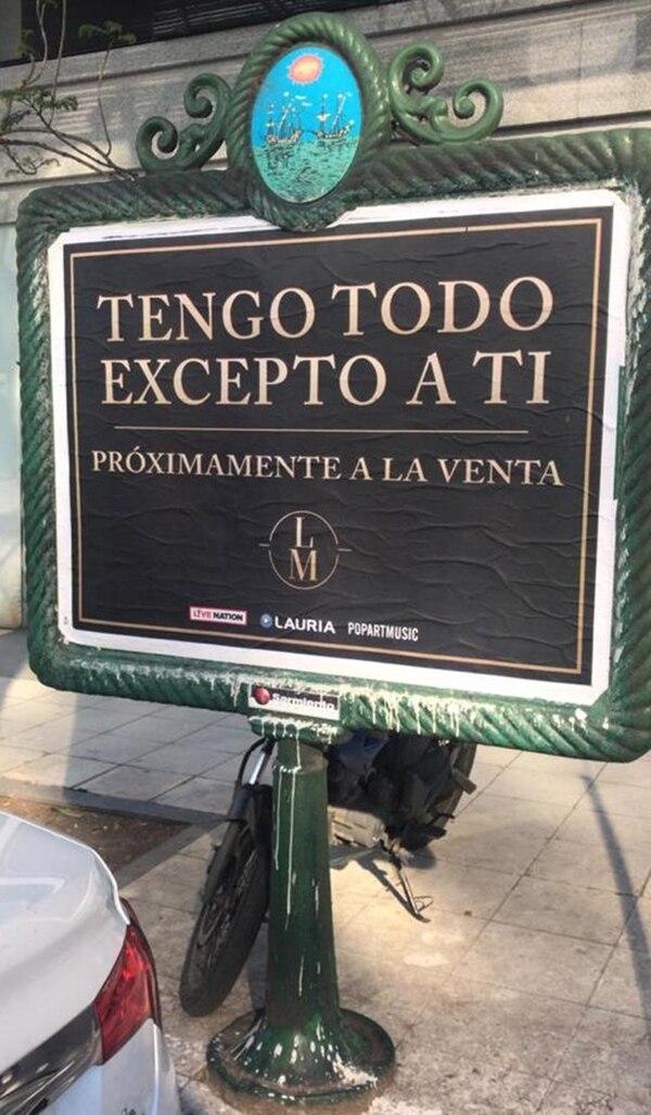 Los afiches que anuncian la vuelta de Luis Miguel